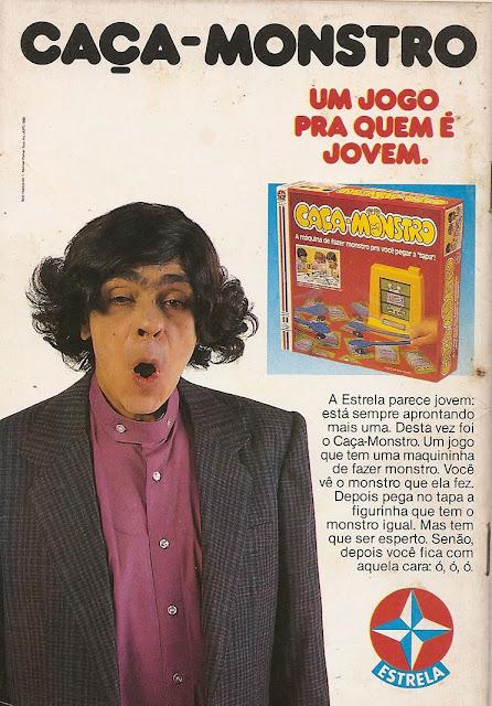 Propaganda do brinquedo Caça-Monstro da Estrela com Chico Anísio protagonizando a campanha.