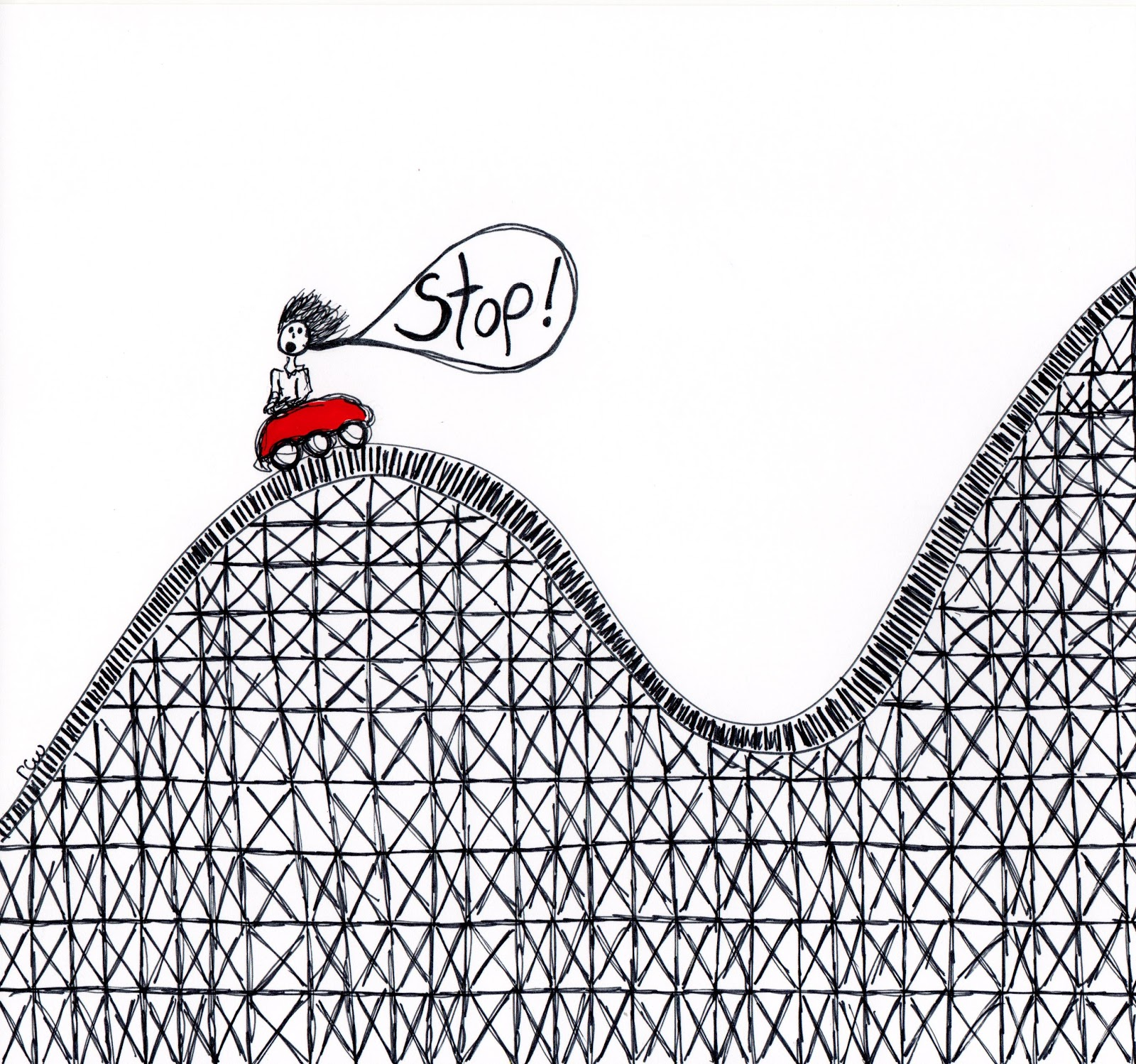 Roller Coaster Coloring Page #2