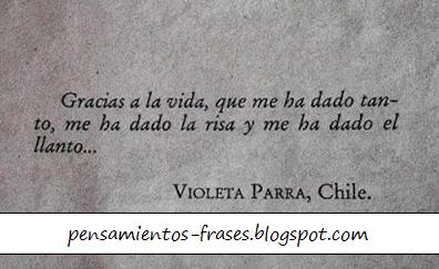 frases de Violeta Parra