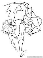 Batman Dan Batgirl Berlari Mengejar Penjahat Dikota Gotham