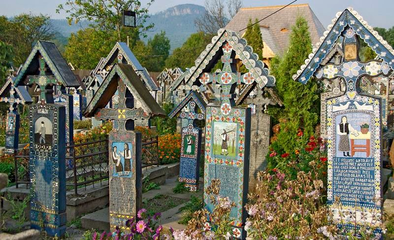 The Merry Cemetery of Sapanta in the province of Maramure is one of the most picturesque places in Romania.