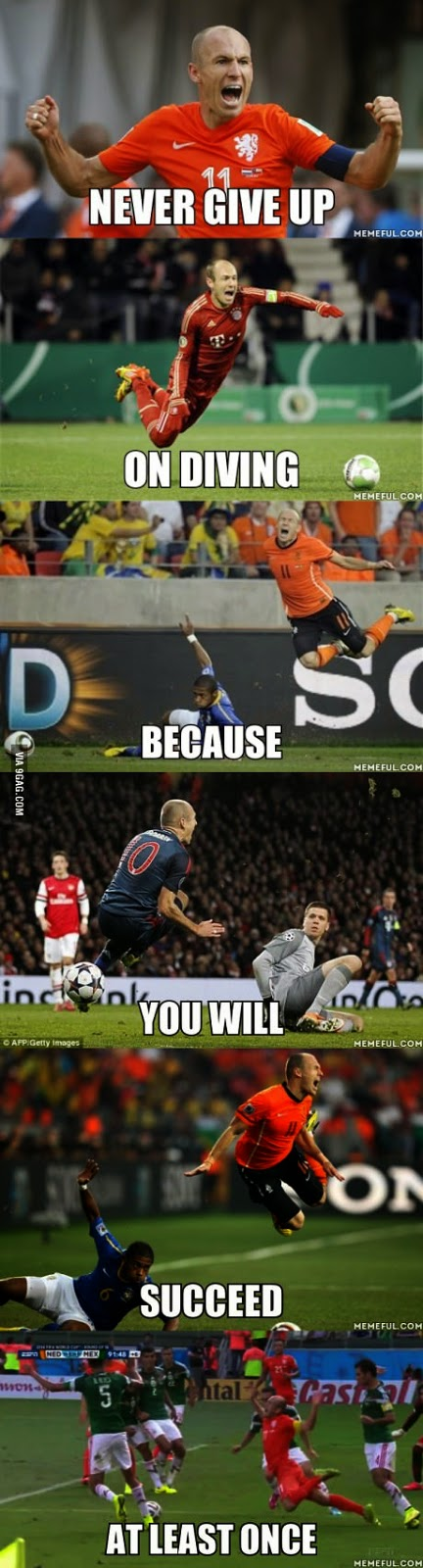 Never give up diving