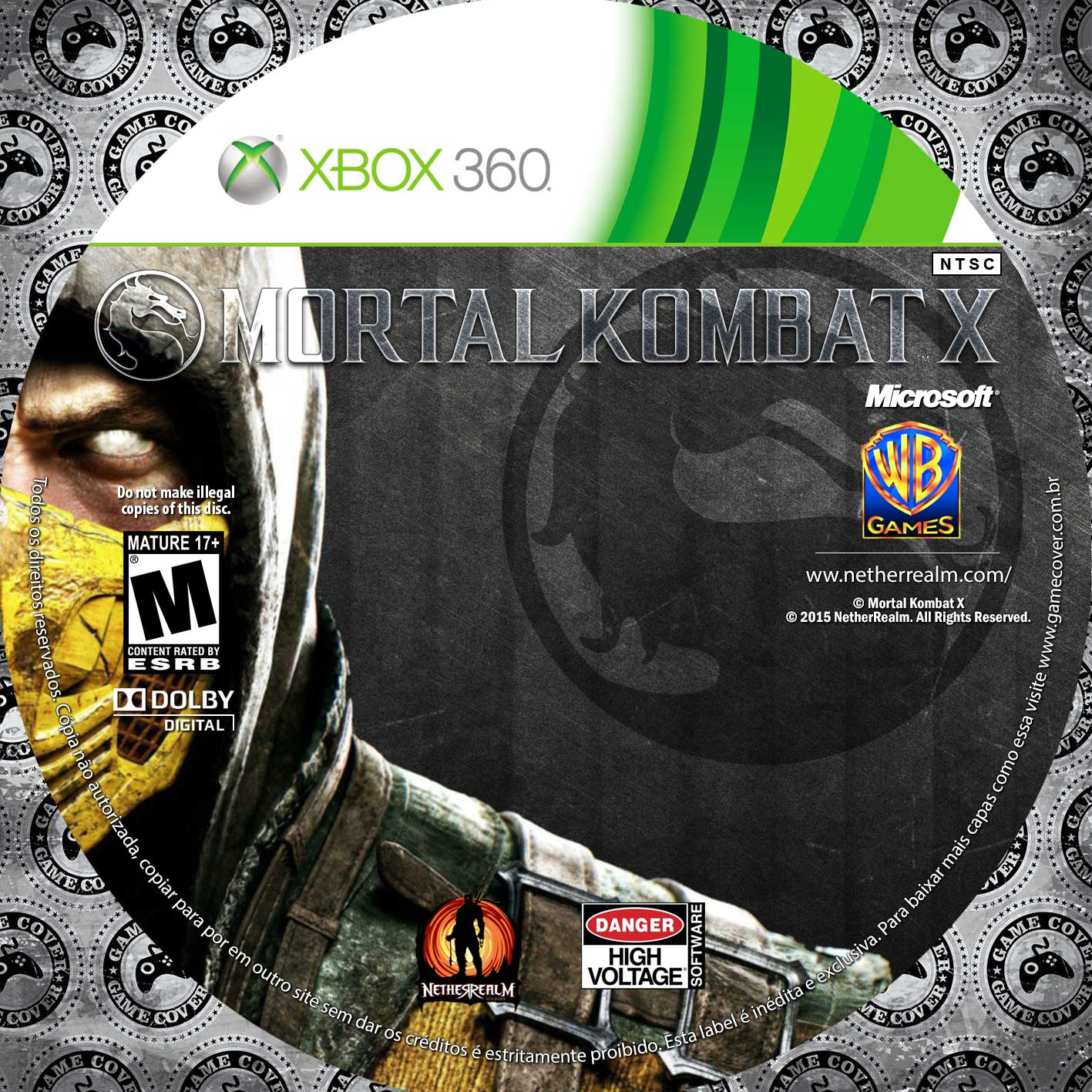 Label Mortal Kombat X Xbox 360 [Exclusiva]