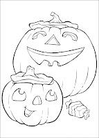 Imagini de Halloween de colorat