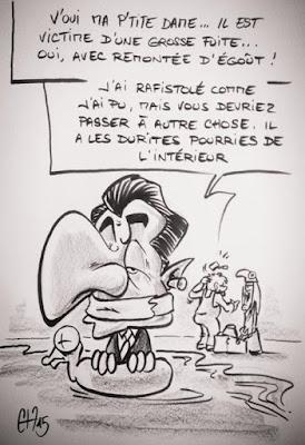 Croquis Nicolas Sarkozy - Guillaume Néel ©