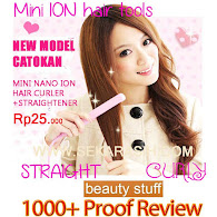 MINI NANO ION HAIR CURLER+STRAIGHTENER