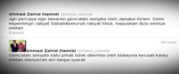 Tawaran Genjatan Senjata Jamalul Kiram Ditolak Oleh Malaysia