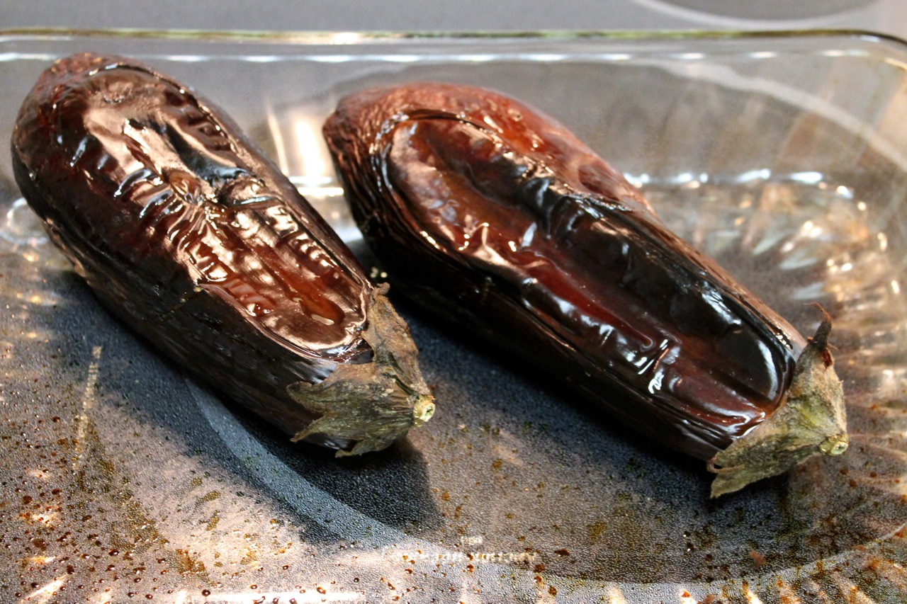 Cook In / Dine Out: Baba Ghanoush (Roasted Eggplant Dip)