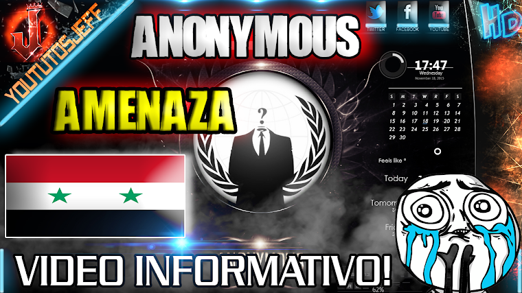 ANONYMOUS AMENAZA AL ESTADO ISLAMICO 2015