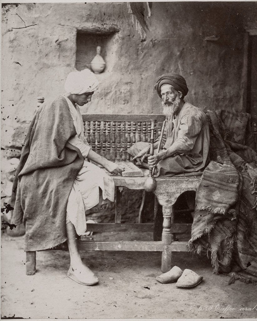 An Arab Cafe - Egypt c1880's