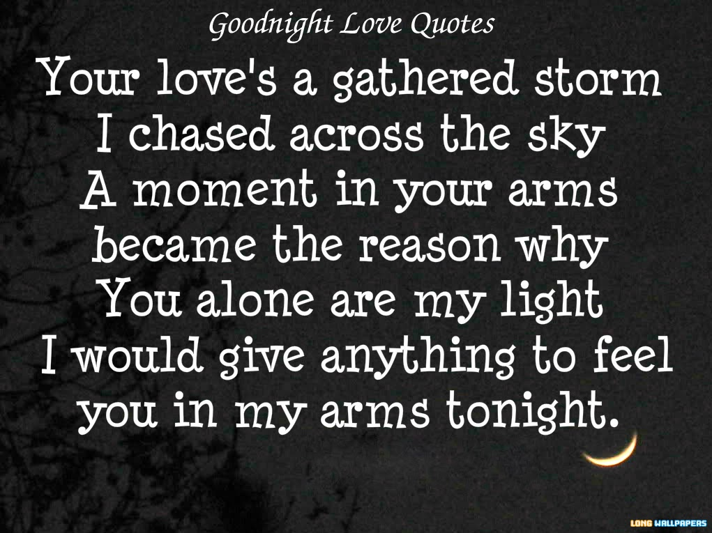 Good Night Love Quotes For Him Images : Romantic Goodnight Messages