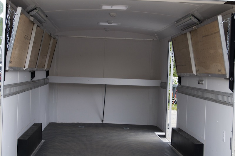 enclosed trailer shelves car interior design. Black Bedroom Furniture Sets. Home Design Ideas