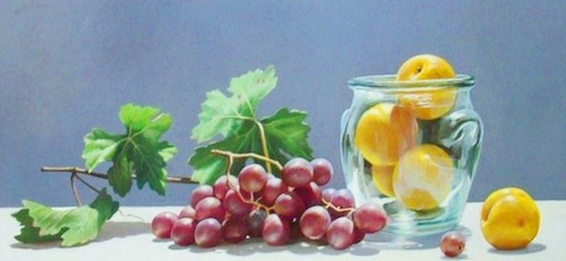 Im genes arte pinturas pinturas de bodegones con uvas - Pinturas bodegones modernos ...