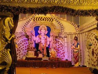 ganesh chaturthi festival nr maha laxmi temple adajan surat 2013