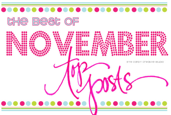 the best of november, on the blog, top posts, hand lettereing