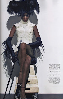 Lara Stone Vogue Paris Blackface