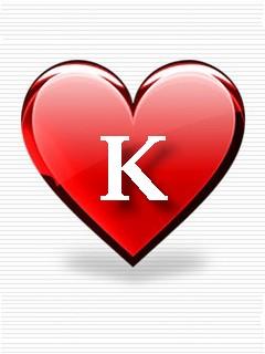 Alphabet - K in heart jpgK Alphabet In Heart