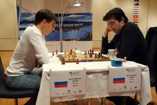 Echecs à Tromsø : Andreikin 1/2 Kramnik lors de la 2e partie © Paul Truong