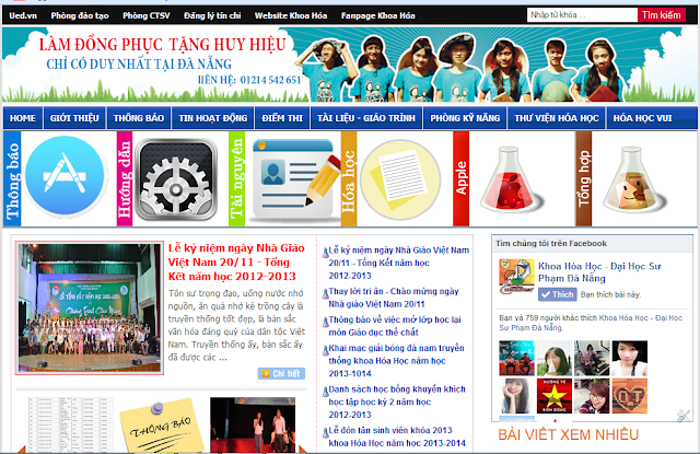 Template Tin Tức Cho Blogspot, Theme Blogger Tin Tuc Trường Học V1