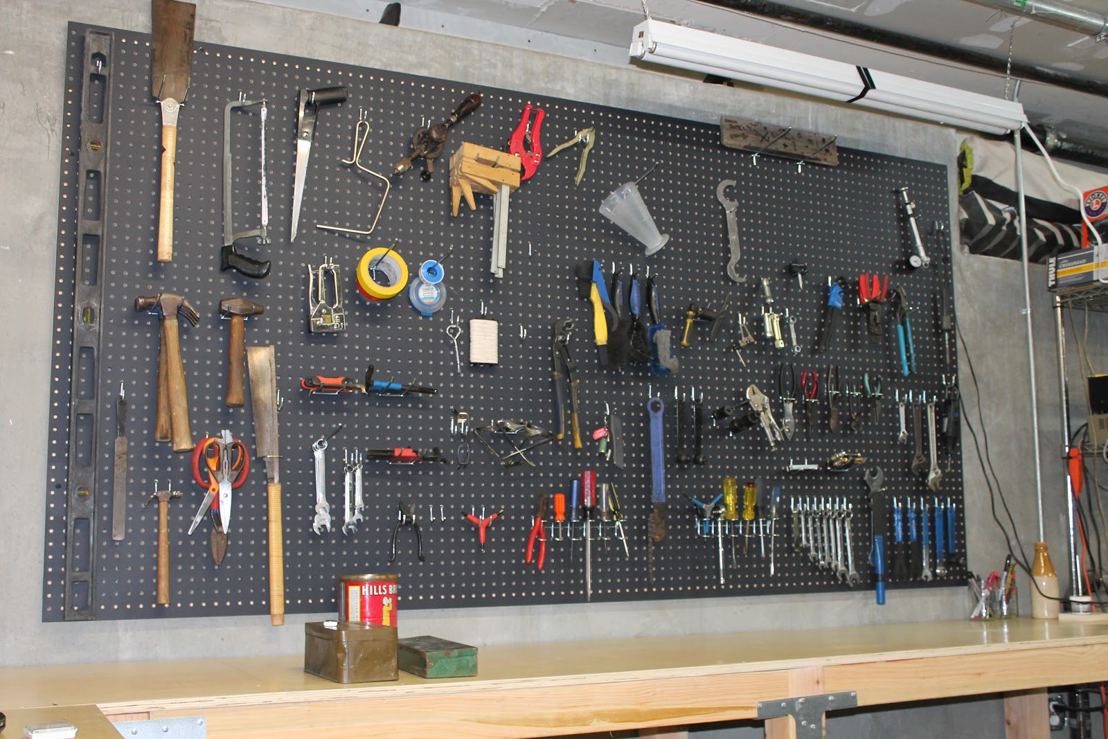 The Shingled House The Garage Pegboard And Tools