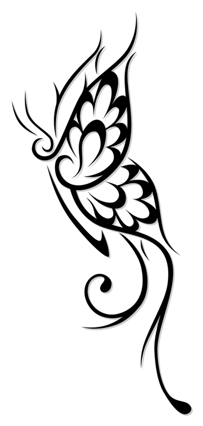 Tattoopicture on Image Design Butterfly Tribal Tattoo Nice For Lower Back By Forace
