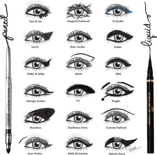 18 Fashion Designer Eyeliner Looks