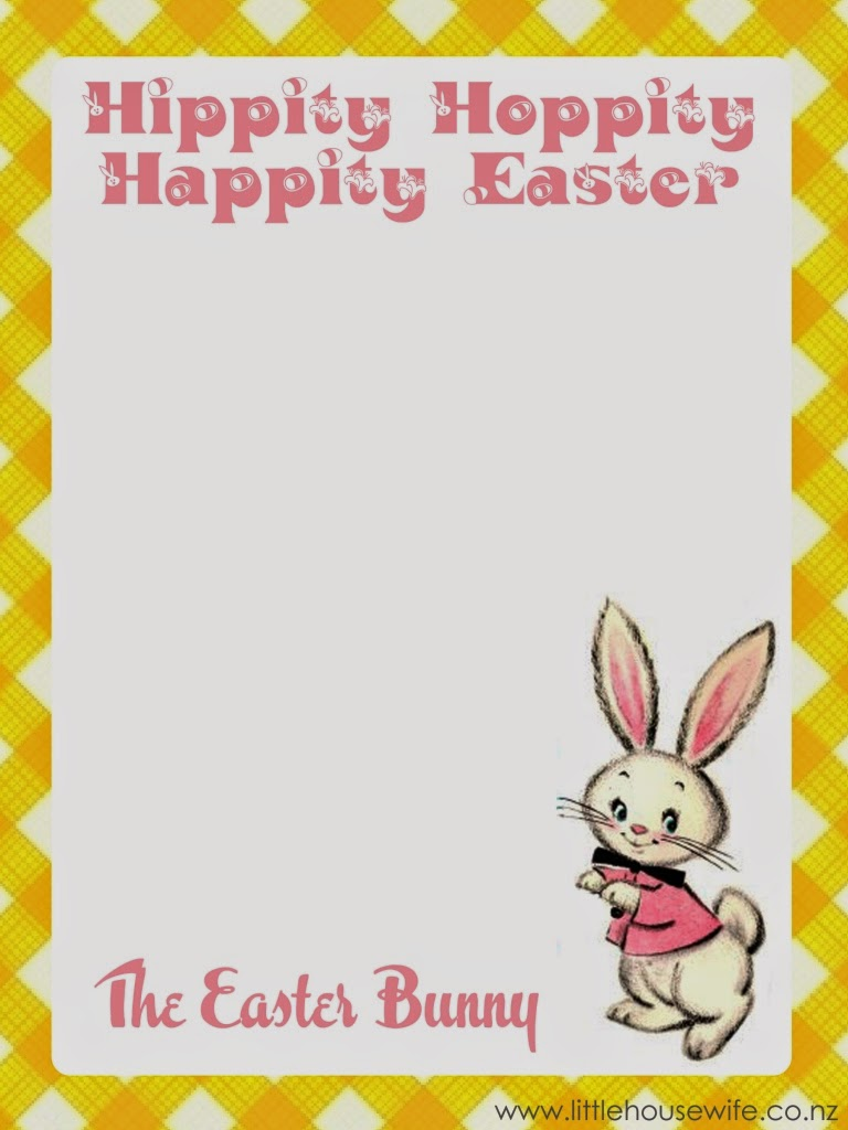 Little Housewife Letter From The Easter Bunny