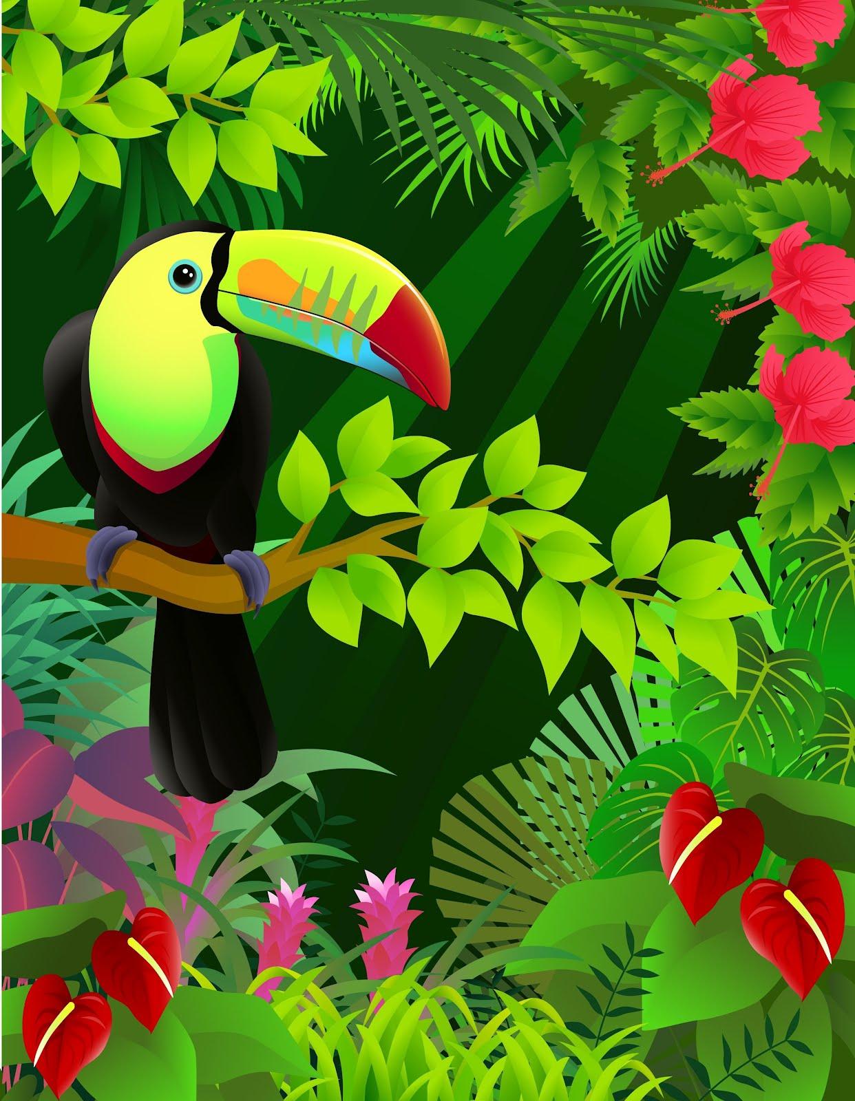 idool Ilustracin fantstica de un tucn de colores en la jungla