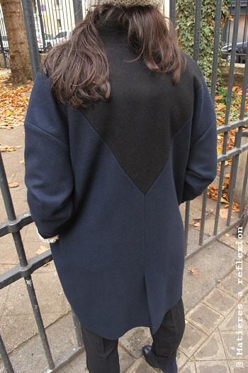 Manteau bleu marine Matières à réflexion