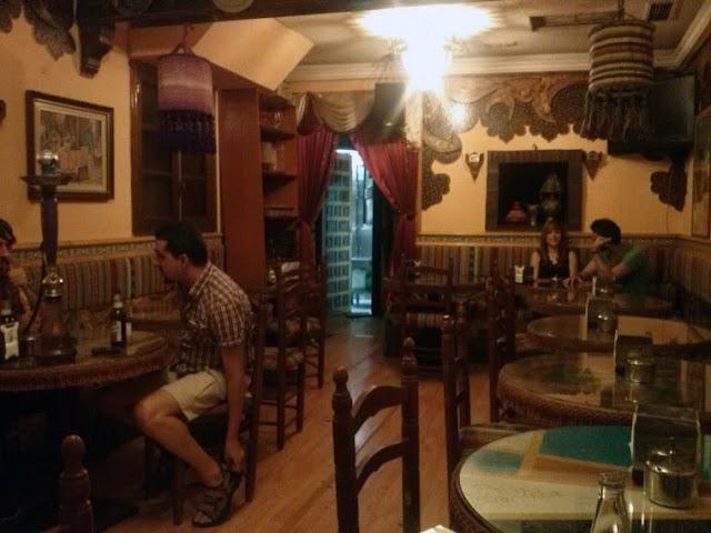 Restaurante El Califa, comedor.