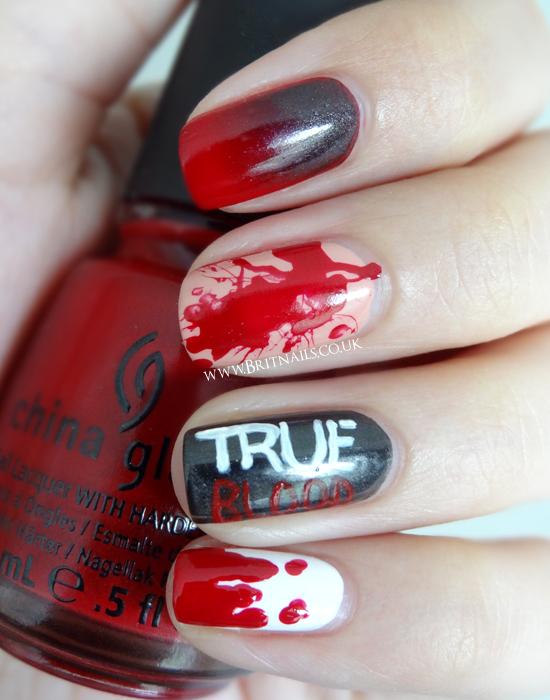 True blood nail art brit nails true blood nail art prinsesfo Gallery
