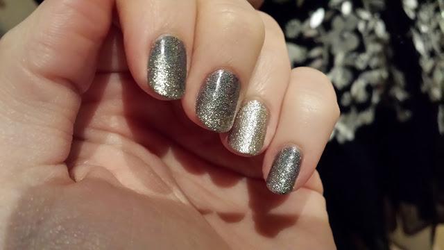 Nail art dégradé de paillettes, vernis