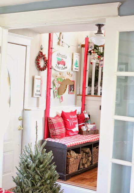 Christmas tree farm entryway-www.goldenboysandme.com