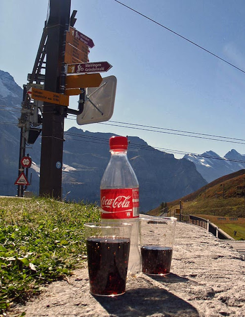 coke on a swiss mountain