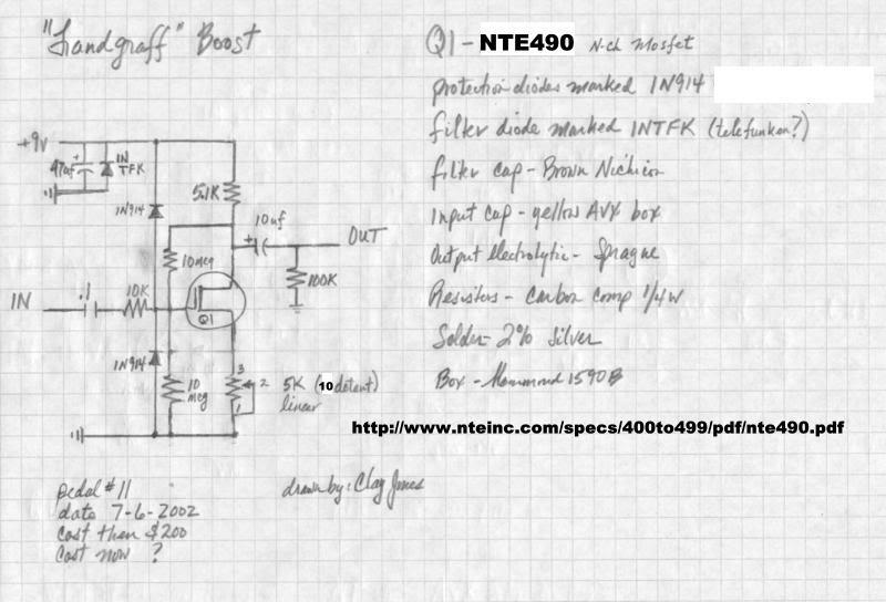 Zvex Super Hard On SHO – Diy Clean Boost Pedal Wiring-diagram