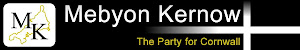 Mebyon Kernow- the Party for Cornwall website