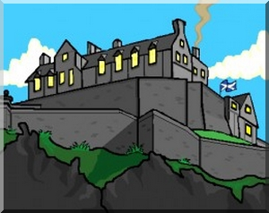 A Cartoon of Edinburgh Castle
