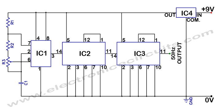 Digital Clock Circuit Using 7490 http://collegeelectronics.blogspot.com/2012/02/digital-clock-using-lm8560.html