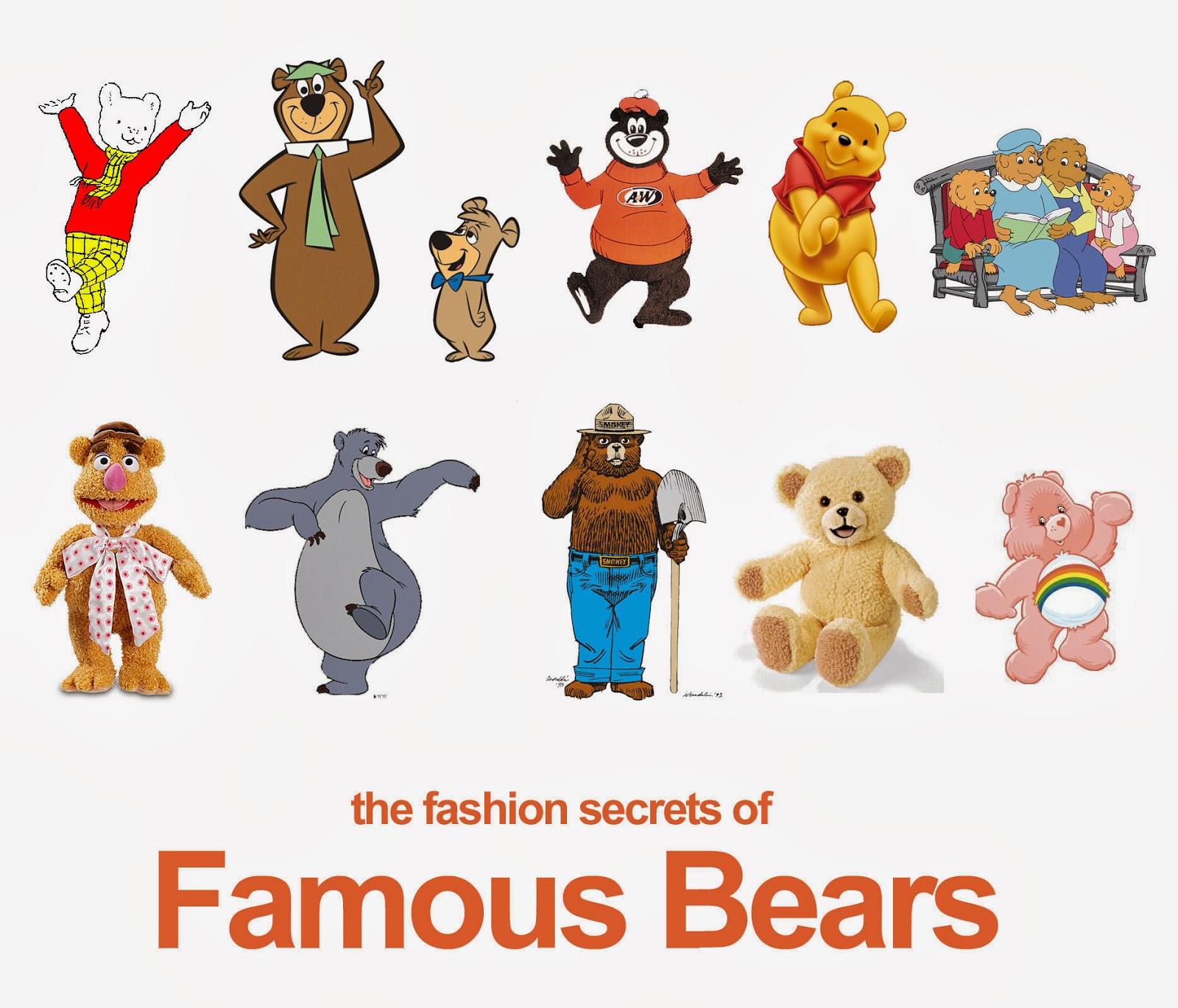 Famous Cartoon Bears