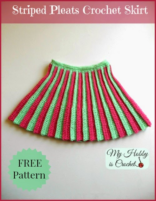 Free Crochet Pattern Child Skirt : Fiber Flux: Super Stripes! 30+ Free Crochet Patterns Full ...