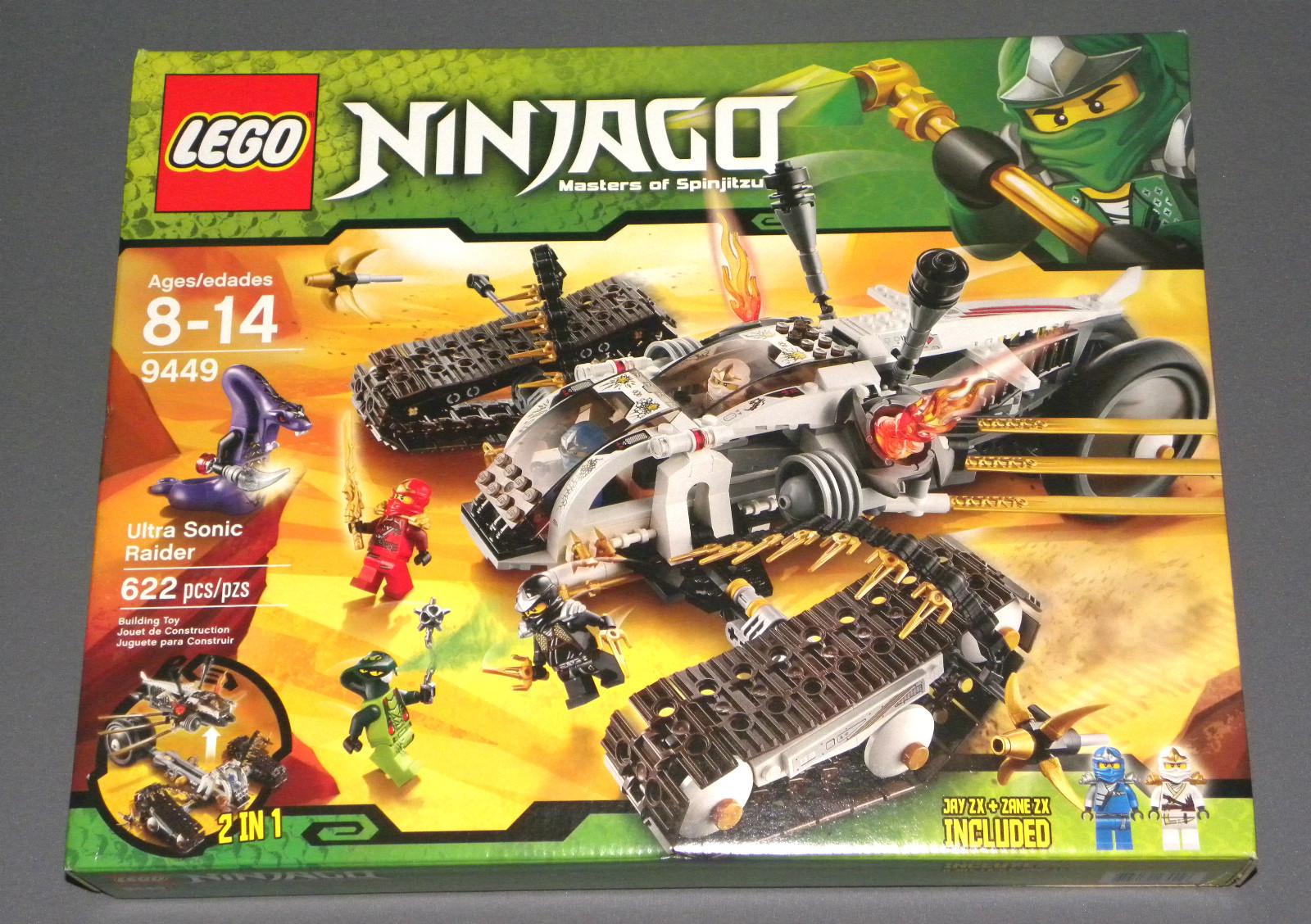 LEGO 9449 Ninjago Ultra Sonic Raider w/ Spitta, Pythor, Jay ZX, Cole ...