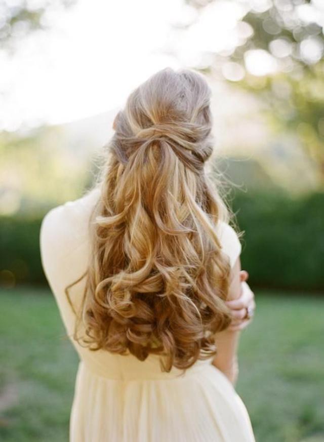 novia pelo suelto recogido boda melena bride hair long blog atodoconfetti