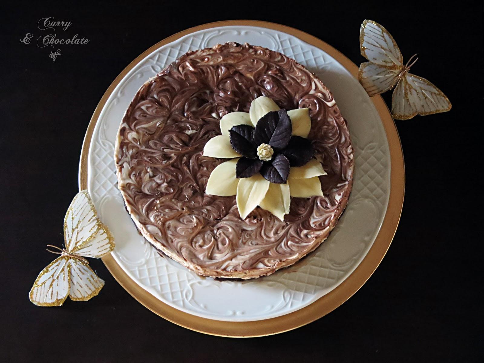 Tarta de queso con chocolatinas y caramelo - Mars chocolate bar cheesecake