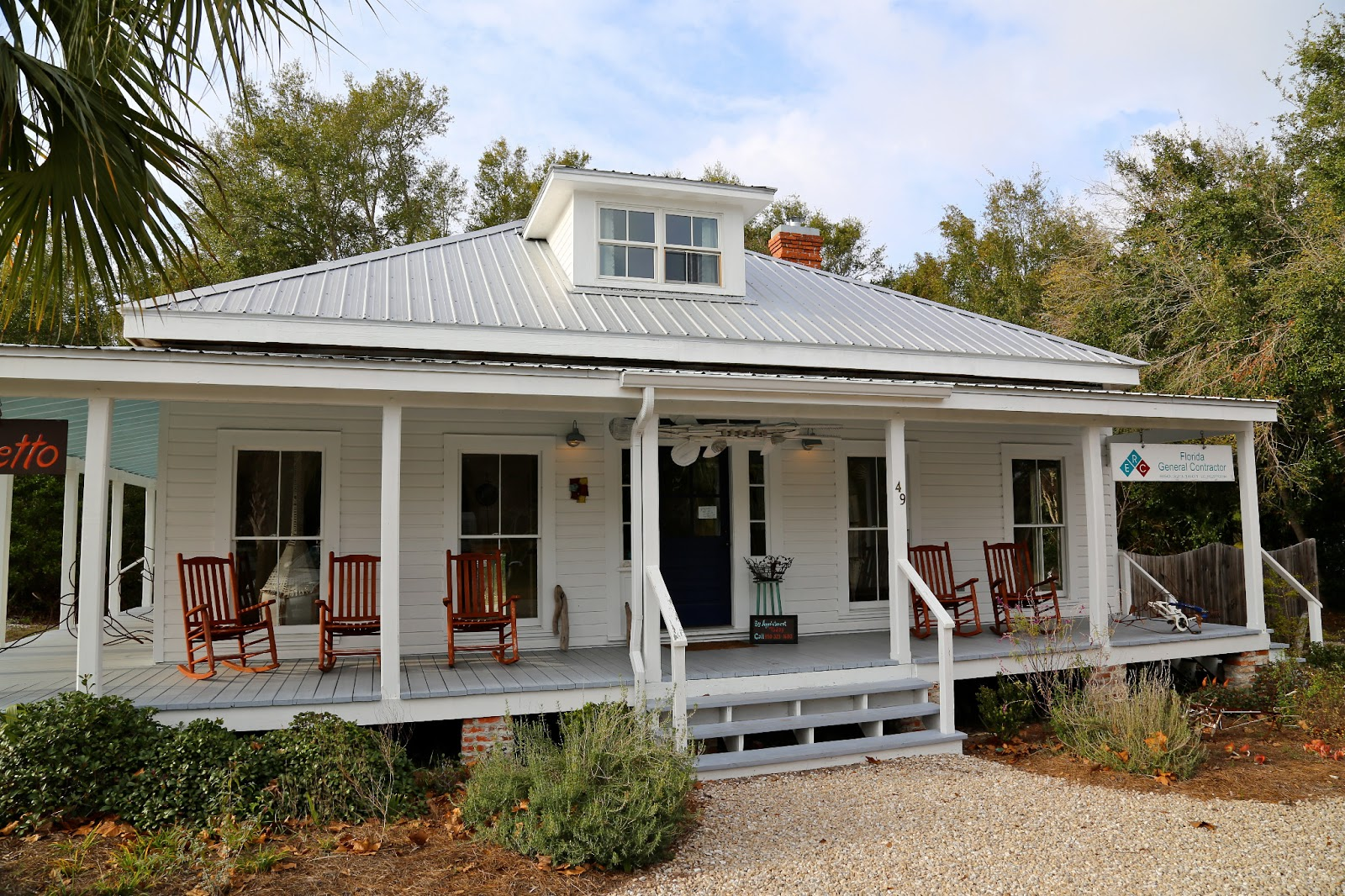 Sweet southern days apalachicola florida for Florida cracker house plans wrap around porch