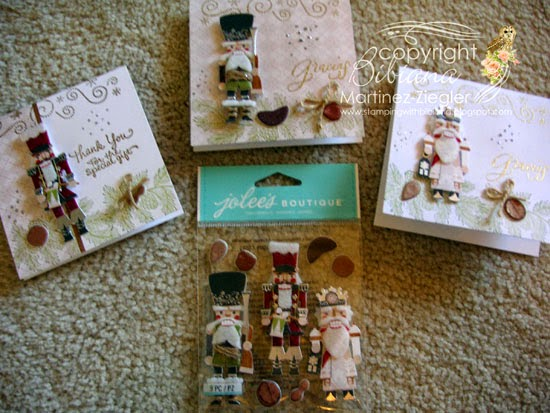 supplies  of thank you notes with nutcracker stickers