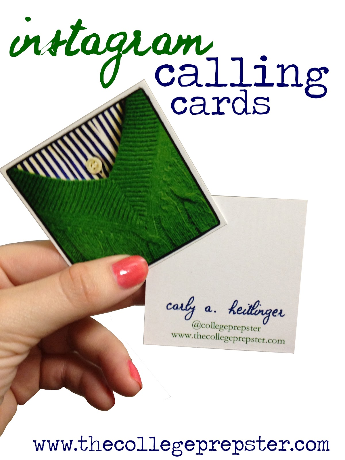 Instagram Business Cards - The College Prepster