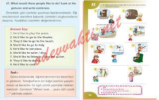 Sınıf ingilizce ders kitabı sayfa 102 nın cevapları