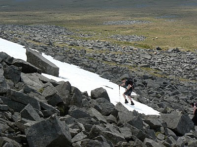 There were still patches of snow on Cross Fell well into May last year