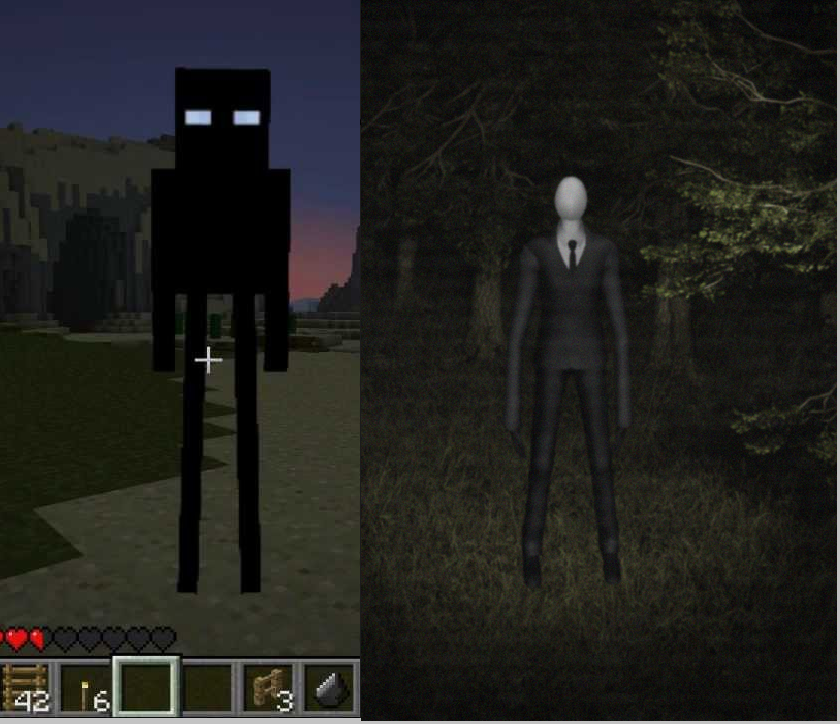 minecraft game endermanslenderman