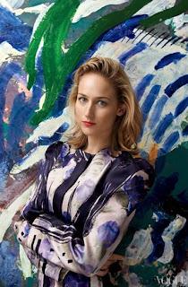 Leelee Sobieski actriz de cine y televisión estadounidense, en un posado para la revista Vogue